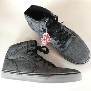 NEW VANS high top off wall gray black sneakers men